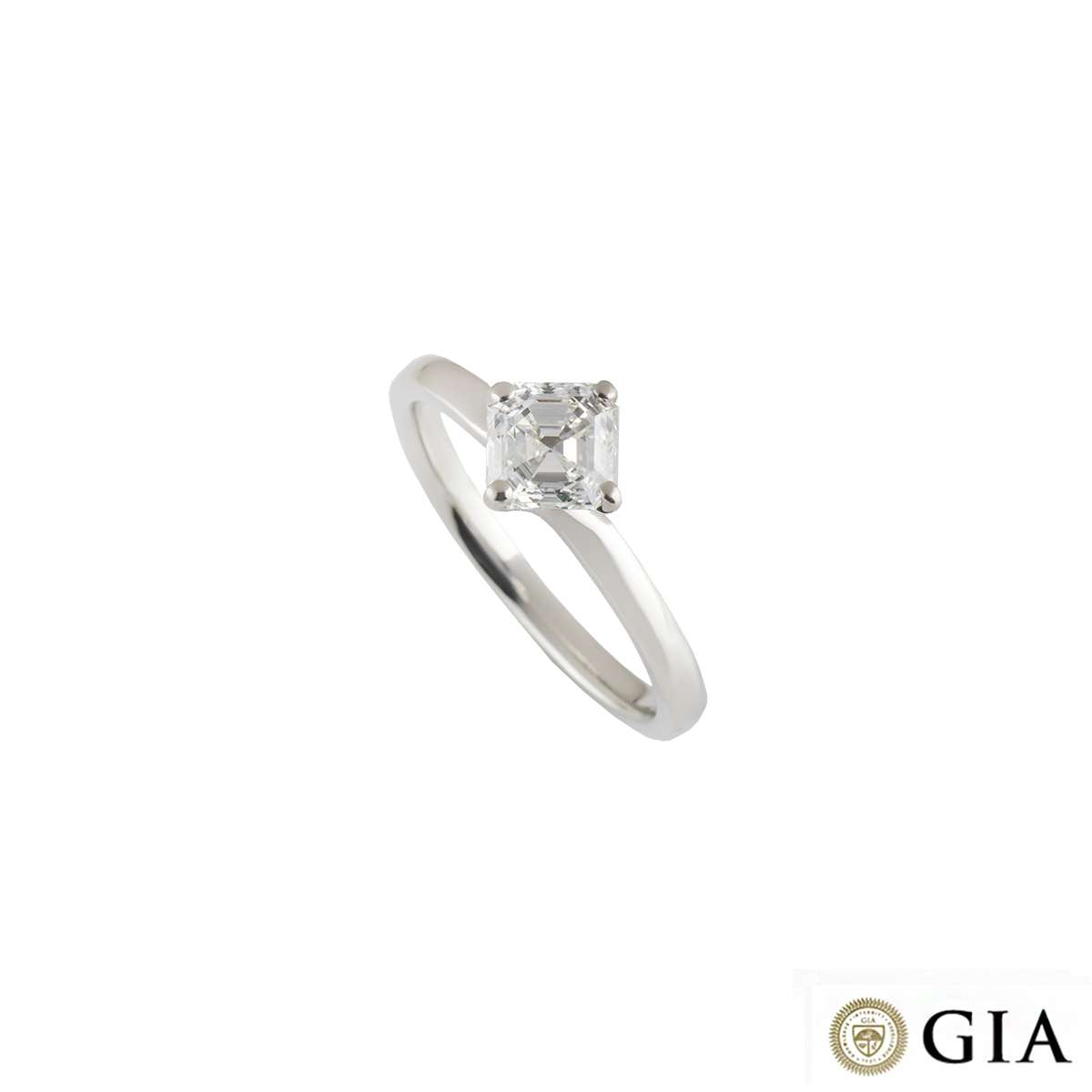 Asscher Cut Diamond Ring in Platinum 1.00ct G/VS2